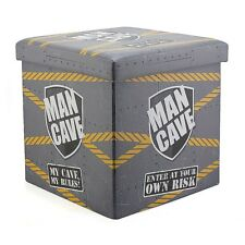 Grey Man Cave Fold Store Box Storage Folding Bedroom with Lid