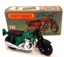 Vintage 1978 Matchbox 75 Series Hondarora Green Motorcycle New w/ Original Box