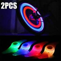 Colorful Bike Bicycle Cycling Spoke Wire Tire Tyre Wheel LED Bright Light Lamp*2