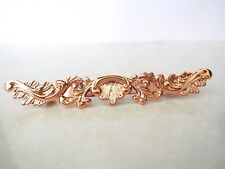 Small slim antique style rose gold/ copper filigree hair clip barrette