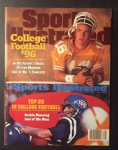 PEYTON MANNING Tennessee NCAA Sports Illustrated No Label NEWSSTAND ISSUE