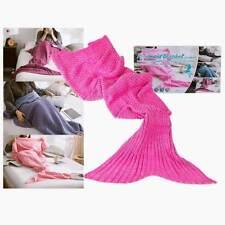 Coperta Forma Coda Sirena Plaid Soffice Per Adulti Sirenetta 180x90cm Soft Rosa