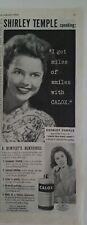 1944 Calox Diente Polvo Pasta de Shirley Temple Miles Sonrisas Vintage Anuncio