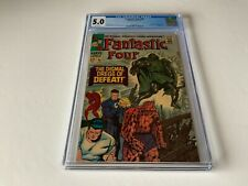FANTASTIC FOUR 58 CGC 5.0 WHITE PAGE DOCTOR DOOM SILVER SURFER MARVEL COMIC 1967