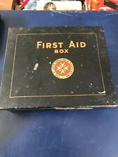 Vintage St John Ambulance First Aid Box Black