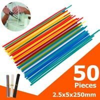 50 Pieces PP/PVC Plastic Welding Rods For Car Motorcycle Bumper Repairs 2.5x5mm
