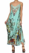 New £715 CURRENT camilla Franks Millas Backyard Long Dress With Sheer Underlay S