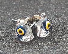 3D Nazar Boncuk Herz Ohrstecker Ohrringe Evil Eye Magisches Blaues Auge Kristall