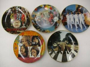 """Nice Set of 5 Delphi """"The Beatles 1967-1970"""" Collector Plates 1992"""