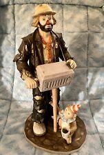 Emmett Kelly Jr's Hurdy Gurdy Man 11 Inch Figurine #4493 Of 9500