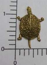 Oxidized Turtle Jewelry Finding 48423 2 Pc Brass