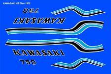 decals kawasaki 750 H2 1972 bleu