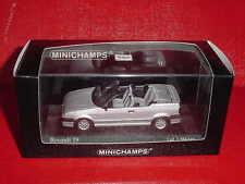 RENAULT 19 CABRIOLET 1992 GRISE 1/43 MINICHAMPS EN BOITE