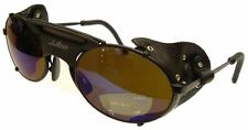 Julbo Micropores Sunglass, Black, Leather Shields, Glass Cat. 4 Lenses Brand New