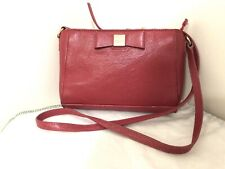 Authentic Kate Spade Bow Style Leather Purse Messenger Sling Womens Bag In Pink