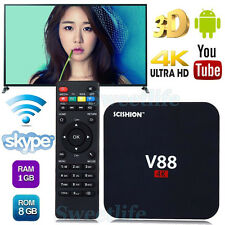 8G 4K V88 RK3229 Android 5.1 Smart TV BOX Quad Core Media Player