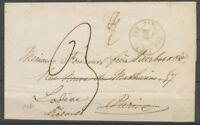 1860 Lettre Cachet taxe de bureau supplémentaire FS2 PARIS FS2 (15c) Bleu X3703