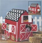 **RED BARN TISSUE BOX COVER TO STITCH**PATTERN ONLY*PLASTIC CANVAS PATTERN**
