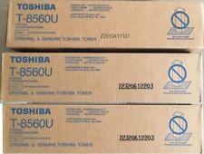 3 New Genuine OPEN BOX and NEVER USED T-8560U Toner Cartridges T8560U