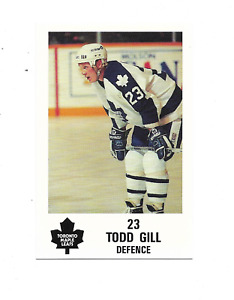 1991-92 Maple Leafs PLAY #14 Todd Gill Toronto Maple Leafs