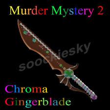 Roblox Murder Mystery 2 Mm2 Chroma Gingerblade Godly Murder Mystery 2 Gingerblade Ebay