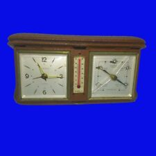 8-Day Travel Clock & Thermometer & Barometer, Weather Station,1930