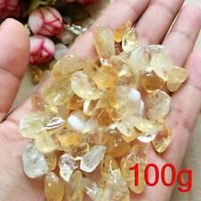 Natural Citrine Yellow Quartz Crystal Stone 10-15mm Rock Polished Gravel 100g .W