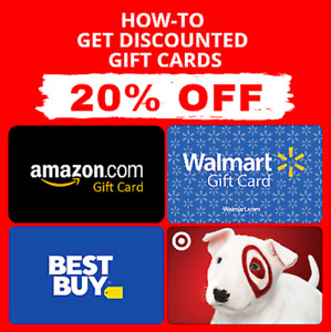 PDF GUIDE Get Amazon | Walmart | Target | Best Buy Gift Card 5-20% OFF🔥🔥🔥🔥🔥