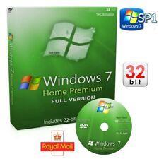 Windows 7 Home Premium 32-Bit DVD SP1 Version complète activation COA License Key 10