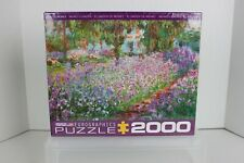 NEW Eurographics 2000 pc Fine Art PUZZLE Monet's Garden USA-Made FACTORY SEALED