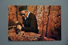 R&L Postcard: Craftsman Maori Woodcarver New Zealand Carpenter Carving Wood