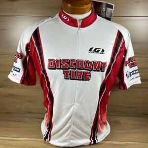 Discount Tire Louis Garneau Cycling Jersey - Mens Large White/Red/Black NEW
