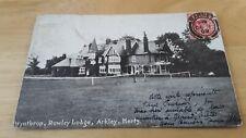 Arkley Near Barnet &  Borehamwood,  & Mill Hill,  Rowley Lane  Lodge,  1909 PC