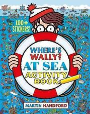Where's Wally Book: WHERE'S WALLY? AT SEA  Activity Book - inc. Stickers - NEW