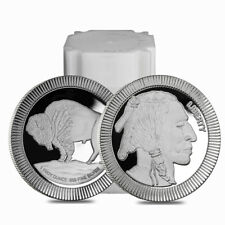 Roll of 20 - 1 oz Buffalo Stackable Silver Round .999 Silver (Lot,Tube of 20)