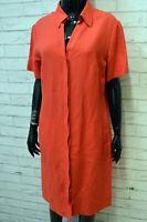 MARELLA Vestito Abito Donna Taglia L Tubino in Lino Dress Women's Camicia Lunga