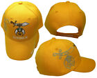 Shriner Emblem Yellow With Shadow Embroidered Cap Hat Masonic