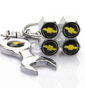 Universal Car Wheel Tire Valve Cover Tyre Dust Cap keychain For Chevrolet