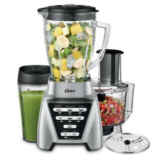 NEW Oster Pro 1200 Plus Smoothie Cup & Food Processor Attachment Brushed Nickel