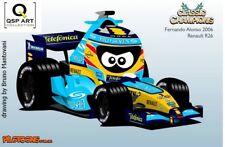 Coffee Mug 2006 WC Renault R26 #1 Fernando Alonso (ESP) by Bruno Mantovani