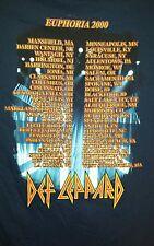 Def Lepard 2000 Concert Tour Euphoria - Shirt Adult size Large
