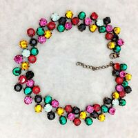 A Stunning Vintage Style Bright Cleopatra Collar Choker Style Necklace