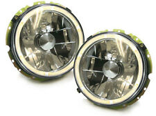 Clear chrome finish headlights with angel eyes for VW Golf 1 and cabrio