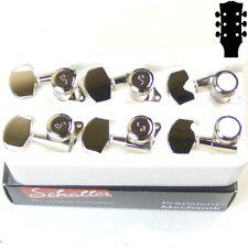 Schaller M6 L135 Standard Buttons Rear Locking tuners, 3x3 Nickel 10060123