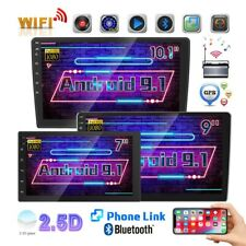 1080P 10.1'' Gps Wifi Android 9.1 Car Stereo Radio 2Din Mp5 Player 2.5D Screen