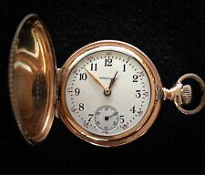Gold Plated Full Hunter Case Pocket Watch by Waltham - Circa 1902