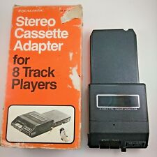 Vintage Realistic Stereo Cassette Adapter for 8 Track Players No. 12-1875A