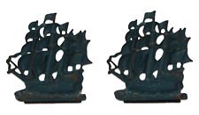 A pair of old ship bookends Brass Early - mid 20th century