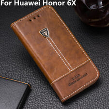 Luxury Phone Case Leather Flip Wallet Stand Holder Cover For Huawei Honor 6X
