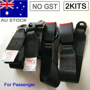 2 Point Retractable Car Bus Passenger Seat Lap Sash Belt Seatbelt Strap Extender